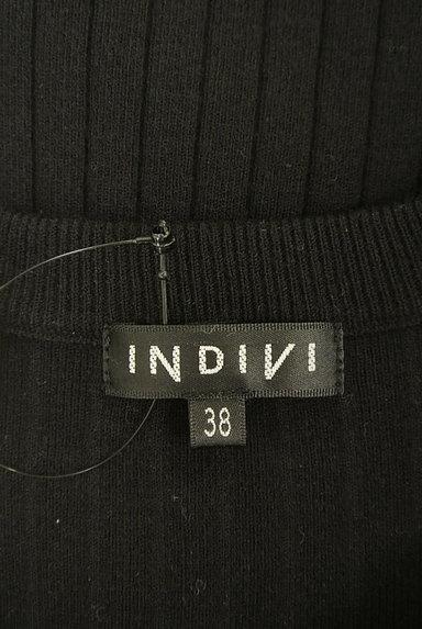INDIVI(インディヴィ)の古着「スリットボタンロングニットワンピ(ワンピース・チュニック)」大画像6へ
