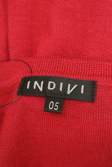 INDIVI(インディヴィ)の古着「Vネックカラーニットトップス(ニット)」大画像6へ