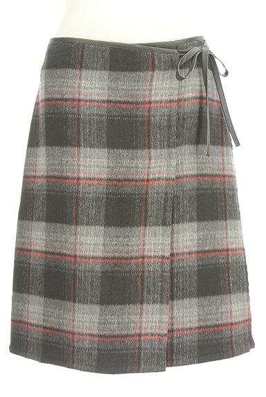 LOUNIE(ルーニィ)の古着「レザーパイピングラップスカート(スカート)」大画像1へ