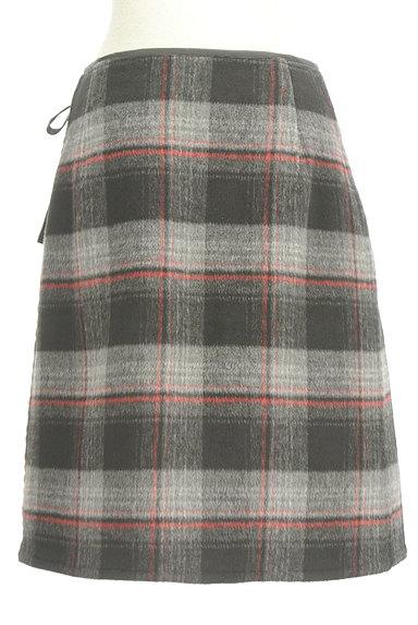 LOUNIE(ルーニィ)の古着「レザーパイピングラップスカート(スカート)」大画像2へ