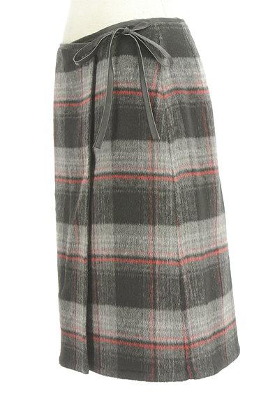 LOUNIE(ルーニィ)の古着「レザーパイピングラップスカート(スカート)」大画像3へ