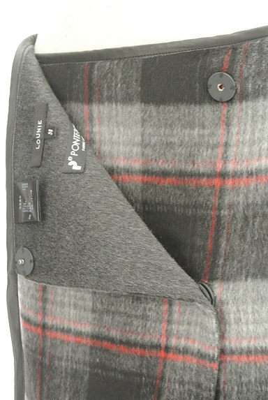 LOUNIE(ルーニィ)の古着「レザーパイピングラップスカート(スカート)」大画像4へ