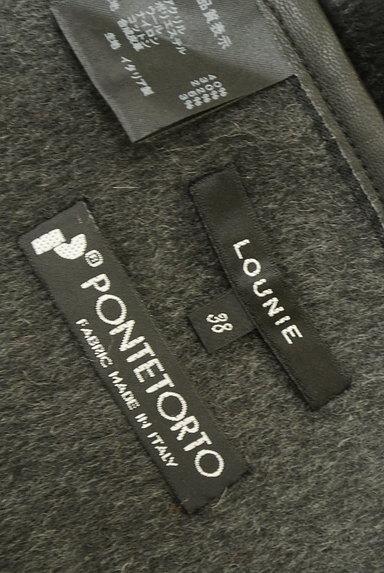 LOUNIE(ルーニィ)の古着「レザーパイピングラップスカート(スカート)」大画像6へ