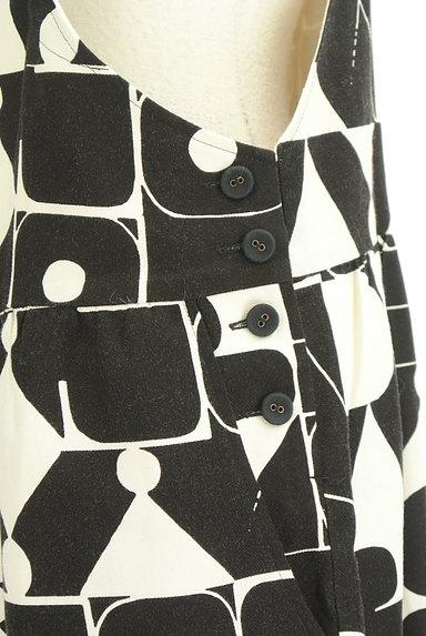Jocomomola(ホコモモラ)の古着「総柄ワイドサロペット(オーバーオール・サロペット)」大画像4へ