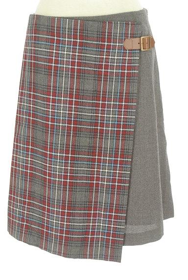 KUMIKYOKU(組曲)の古着「チェック切替ラップスカート(スカート)」大画像1へ