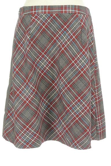KUMIKYOKU(組曲)の古着「チェック切替ラップスカート(スカート)」大画像2へ