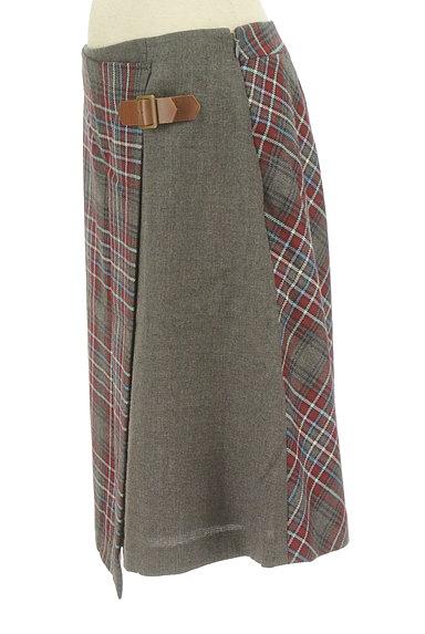 KUMIKYOKU(組曲)の古着「チェック切替ラップスカート(スカート)」大画像3へ