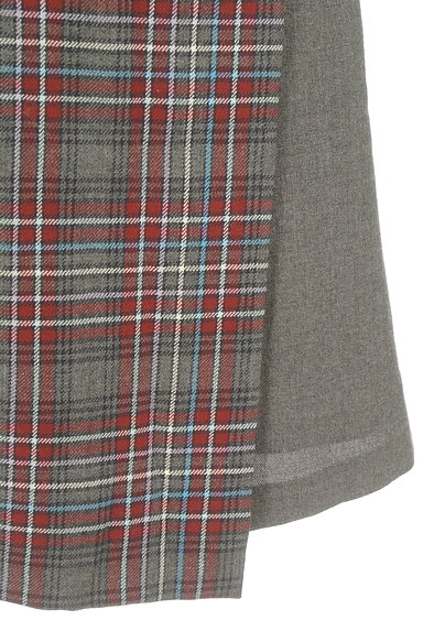 KUMIKYOKU(組曲)の古着「チェック切替ラップスカート(スカート)」大画像5へ