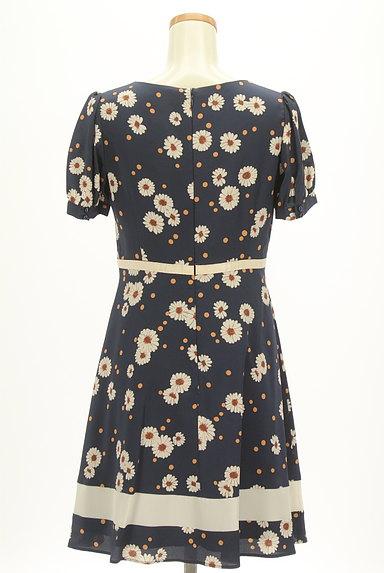 LAISSE PASSE(レッセパッセ)の古着「花柄×ドットフレアワンピース(ワンピース・チュニック)」大画像2へ