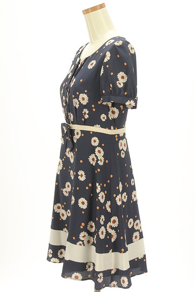 LAISSE PASSE(レッセパッセ)の古着「花柄×ドットフレアワンピース(ワンピース・チュニック)」大画像3へ