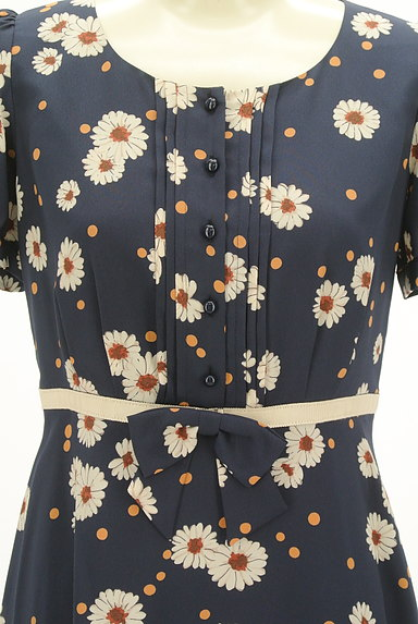 LAISSE PASSE(レッセパッセ)の古着「花柄×ドットフレアワンピース(ワンピース・チュニック)」大画像4へ