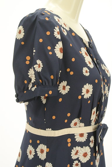 LAISSE PASSE(レッセパッセ)の古着「花柄×ドットフレアワンピース(ワンピース・チュニック)」大画像5へ
