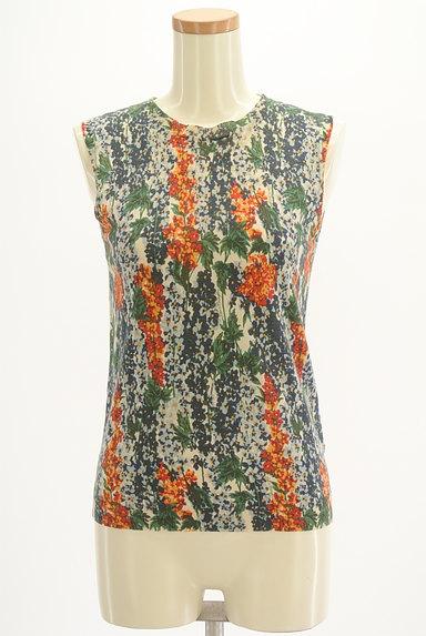 Lois CRAYON(ロイスクレヨン)の古着「総花柄タイトサマーニット(ニット)」大画像1へ
