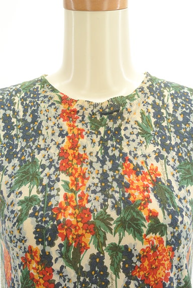 Lois CRAYON(ロイスクレヨン)の古着「総花柄タイトサマーニット(ニット)」大画像4へ