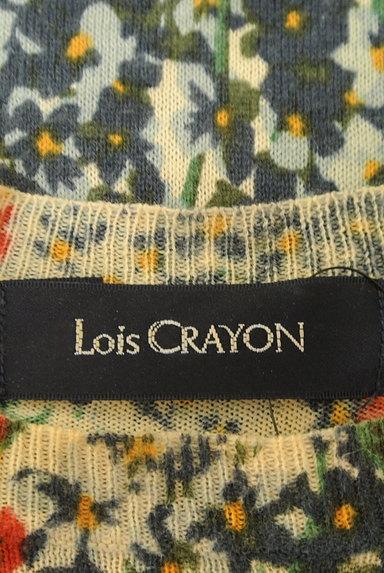 Lois CRAYON(ロイスクレヨン)の古着「総花柄タイトサマーニット(ニット)」大画像6へ