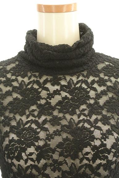 Lois CRAYON(ロイスクレヨン)の古着「総刺繍レースタートルネックカットソー(カットソー・プルオーバー)」大画像4へ