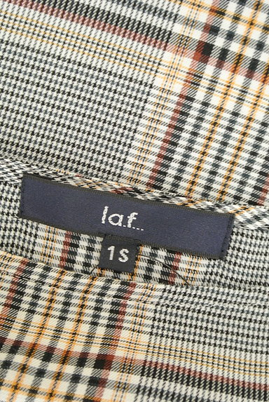 la.f...(ラエフ)の古着「ボートネックチェック柄カットソー(カットソー・プルオーバー)」大画像6へ