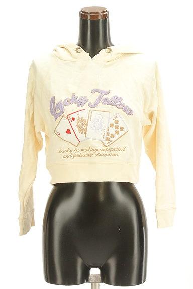 LIZ LISA(リズリサ)の古着「トランプ刺繍スウェットパーカー(スウェット・パーカー)」大画像1へ