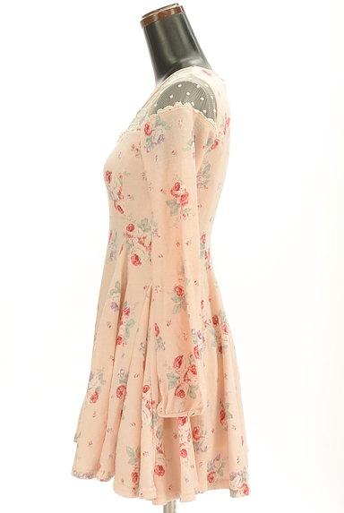 LIZ LISA(リズリサ)の古着「ドットチュール花柄ワンピース(ワンピース・チュニック)」大画像3へ