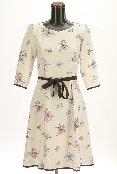 LAISSE PASSE(レッセパッセ)の古着「七分袖花柄ワンピース(ワンピース・チュニック)」大画像1へ