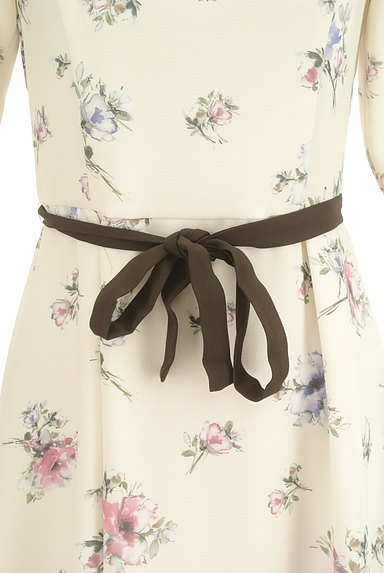 LAISSE PASSE(レッセパッセ)の古着「七分袖花柄ワンピース(ワンピース・チュニック)」大画像4へ