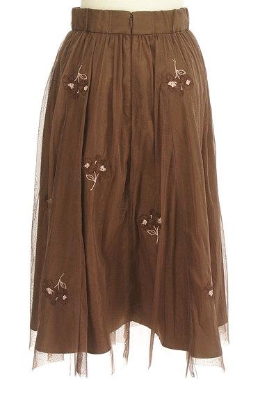 LAISSE PASSE(レッセパッセ)の古着「ミモレ丈花刺繍チュールフレアスカート(スカート)」大画像2へ