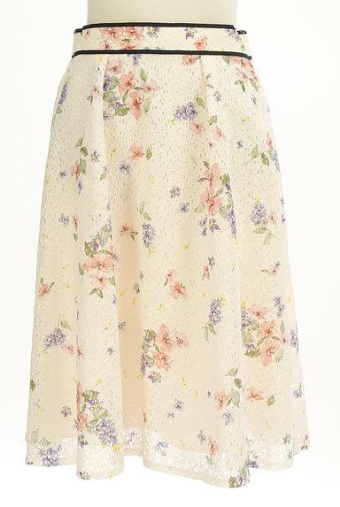 LAISSE PASSE(レッセパッセ)の古着「花柄レースフレアスカート(スカート)」大画像1へ