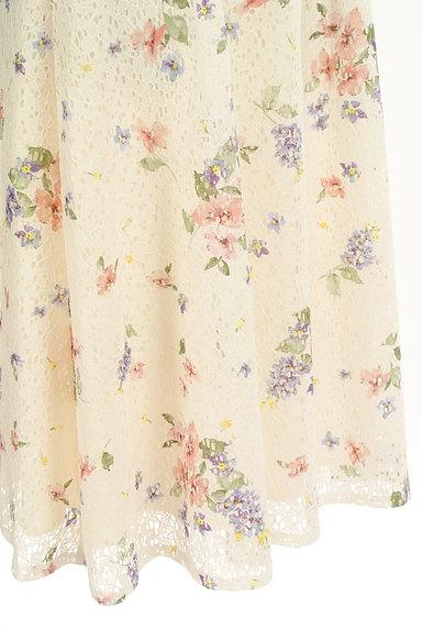 LAISSE PASSE(レッセパッセ)の古着「花柄レースフレアスカート(スカート)」大画像5へ