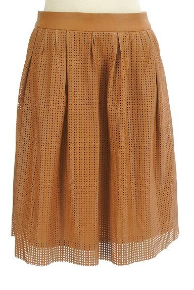 LOUNIE(ルーニィ)の古着「カッティングレザースカート(スカート)」大画像1へ