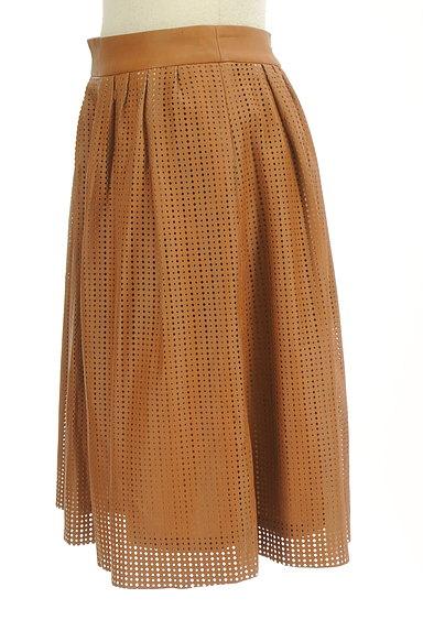 LOUNIE(ルーニィ)の古着「カッティングレザースカート(スカート)」大画像3へ