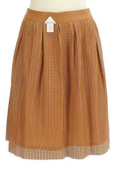 LOUNIE(ルーニィ)の古着「カッティングレザースカート(スカート)」大画像4へ