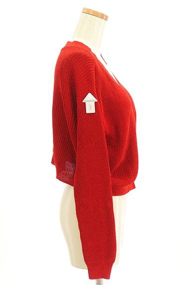 LOUNIE(ルーニィ)の古着「Vネックコンパクトリブカーディガン(カーディガン・ボレロ)」大画像4へ