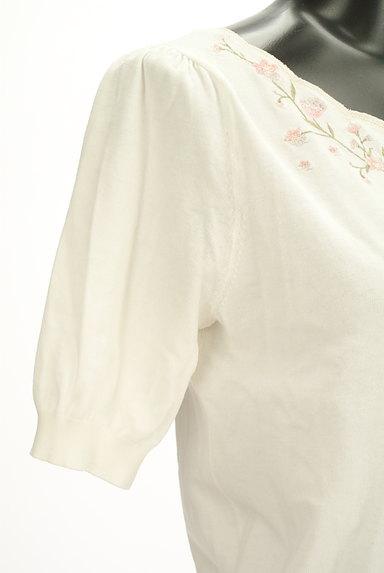 LAISSE PASSE(レッセパッセ)の古着「花刺繍スカラップニット(ニット)」大画像5へ