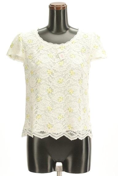 LAISSE PASSE(レッセパッセ)の古着「刺繍レース半袖+カーディガン(アンサンブル)」大画像3へ