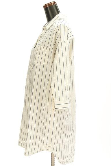 nano・universe(ナノユニバース)の古着「七分袖スキッパーカラーロングシャツ(カジュアルシャツ)」大画像3へ