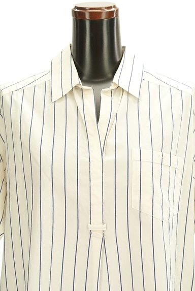 nano・universe(ナノユニバース)の古着「七分袖スキッパーカラーロングシャツ(カジュアルシャツ)」大画像4へ