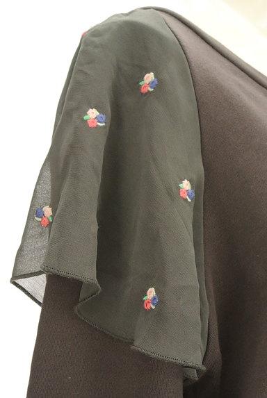 Par Avion(パラビオン)の古着「花刺繍シアーフリルスウェット(スウェット・パーカー)」大画像5へ