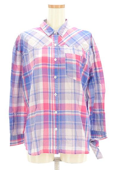Par Avion(パラビオン)の古着「ネコ刺繍チェック柄シャツ(カジュアルシャツ)」大画像1へ