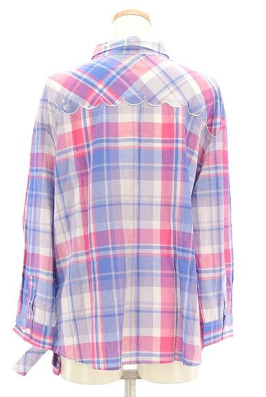 Par Avion(パラビオン)の古着「ネコ刺繍チェック柄シャツ(カジュアルシャツ)」大画像2へ