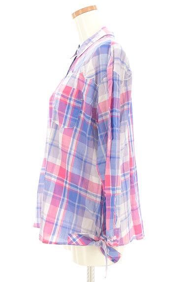 Par Avion(パラビオン)の古着「ネコ刺繍チェック柄シャツ(カジュアルシャツ)」大画像3へ