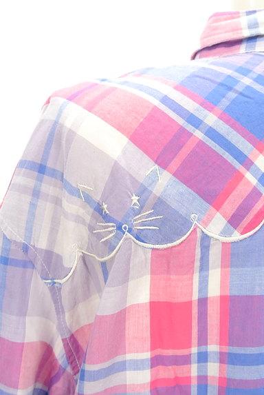 Par Avion(パラビオン)の古着「ネコ刺繍チェック柄シャツ(カジュアルシャツ)」大画像4へ