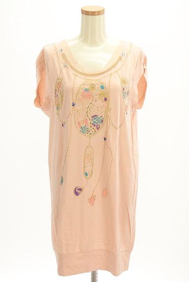 TSUMORI CHISATO(ツモリチサト)の古着「ビジュー+ラメプリントロングTシャツ(Tシャツ)」大画像1へ