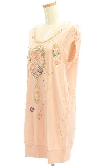 TSUMORI CHISATO(ツモリチサト)の古着「ビジュー+ラメプリントロングTシャツ(Tシャツ)」大画像3へ