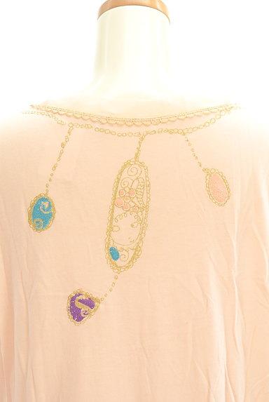 TSUMORI CHISATO(ツモリチサト)の古着「ビジュー+ラメプリントロングTシャツ(Tシャツ)」大画像5へ