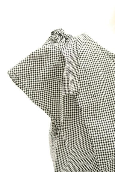 Stola.(ストラ)の古着「肩リボンフレンチコットンブラウス(カットソー・プルオーバー)」大画像4へ