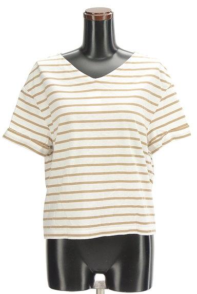 LOUNIE(ルーニィ)の古着「バックリボンボーダーTシャツ(Tシャツ)」大画像1へ
