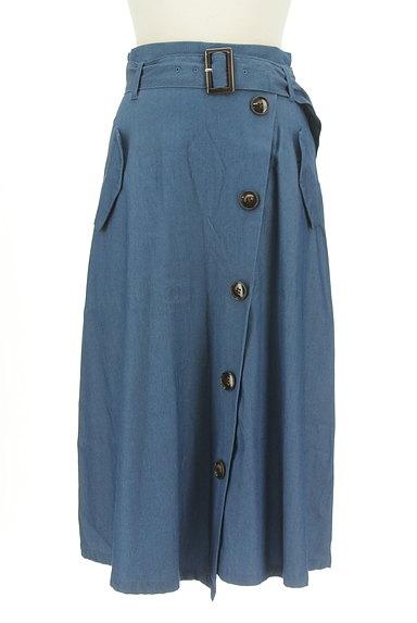 Stola.(ストラ)の古着「ベルト付きラップ風ミモレ丈スカート(ロングスカート・マキシスカート)」大画像1へ