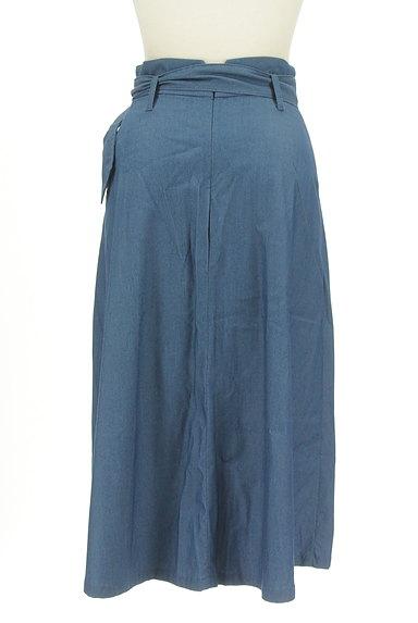 Stola.(ストラ)の古着「ベルト付きラップ風ミモレ丈スカート(ロングスカート・マキシスカート)」大画像2へ