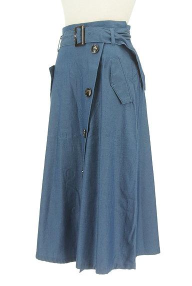 Stola.(ストラ)の古着「ベルト付きラップ風ミモレ丈スカート(ロングスカート・マキシスカート)」大画像3へ