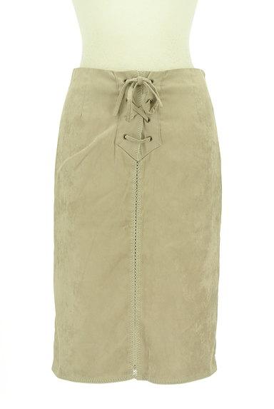 Stola.(ストラ)の古着「レースアップスエードタイトスカート(スカート)」大画像1へ